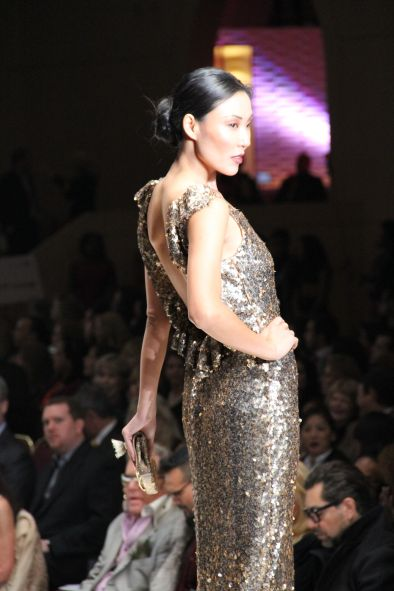 Chloe Dao Long Gold Gown