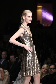 Chloe Dao Short Gold Gown