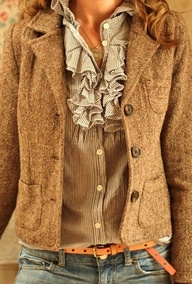 tweed and ruffles