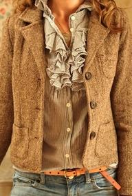 tweed and ruffles