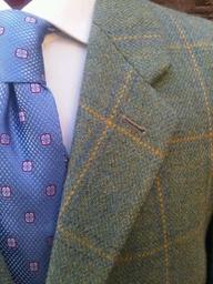 tweed blue tie