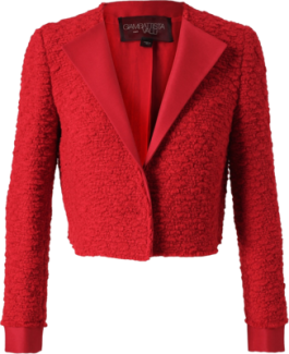 tweed giambattista valli tailored boucle jacket