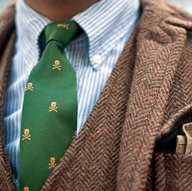 tweed green tie