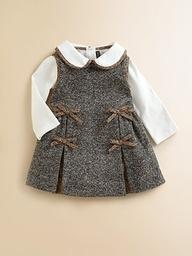 tweed little girl dress