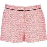 tweed pink shorts