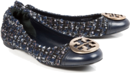 tweed tory burch heels