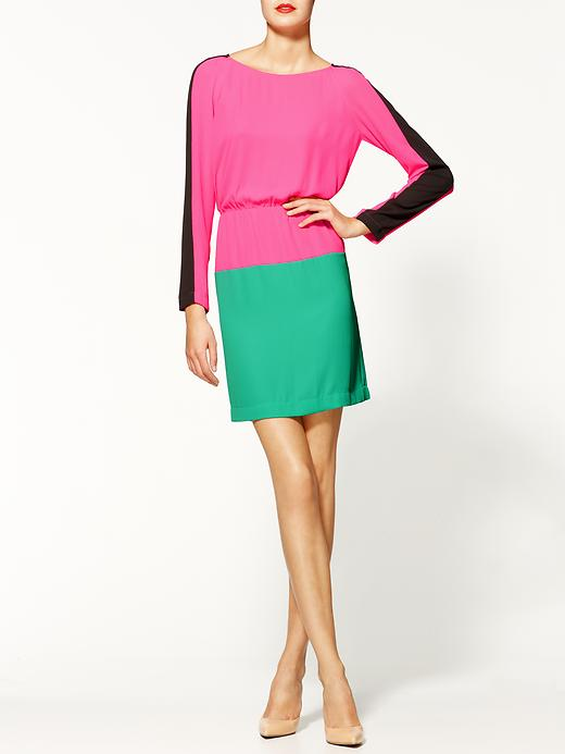 BC - BCBGMaxAzria Marcel Colorblock Dress - PiperLime - $198