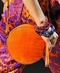 BC - Ferragamo shoulder bag in bright orange 2012