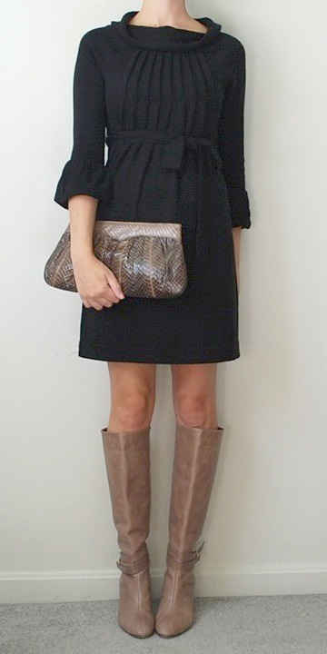 Black Dress Brown Boots