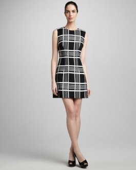 Checks - Rachel Roy Oversized-Check Minidress - $149 - Neiman Marcus