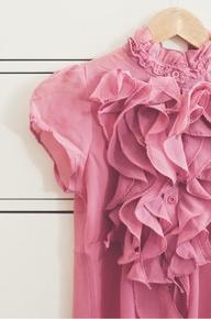 Ruffle Pink Blouse