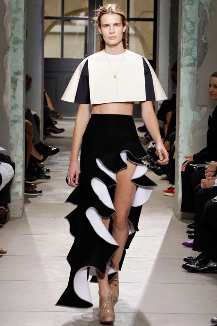 Vogue - Balenciaga Black White Ruffles