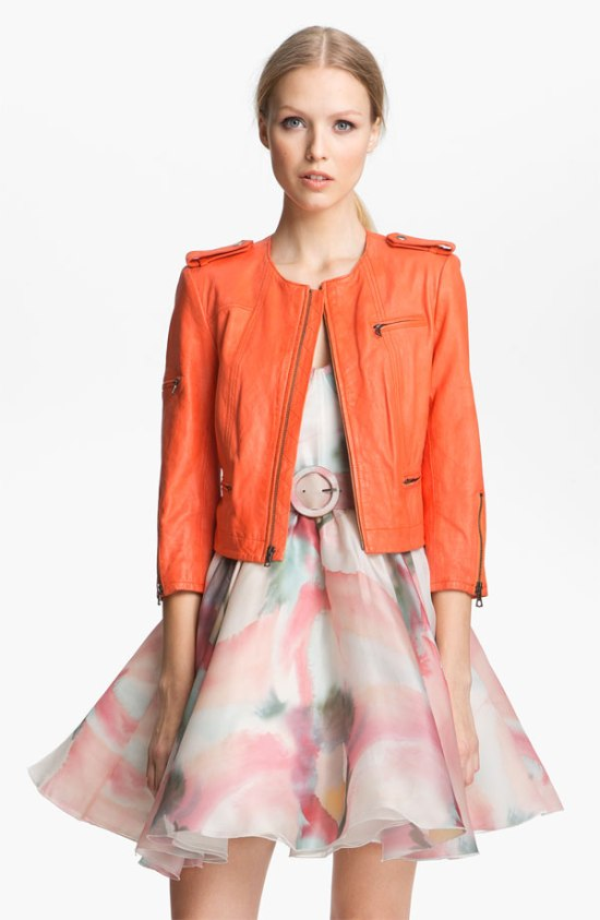 Alice + Olivia Leather Biker Jacket - $895 - Nordstrom