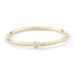 C Wonder Pave Heart Bangle - $28