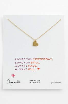 Dogeared 'Sparkle Heart' Pendant Necklace - $62