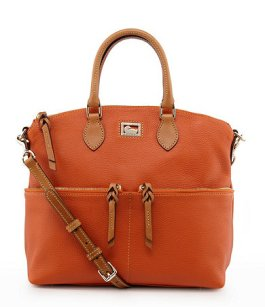 Dooney & Bourke Dillen Leather Double Pocket Satchel - $228 - Dillards