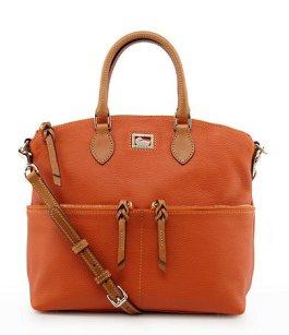 Dooney & Bourke Dillen Leather Double Pocket Satchel - $228 - Dillards