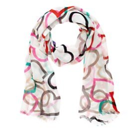 Kate Spade Hearts and Spades Scarf - $128