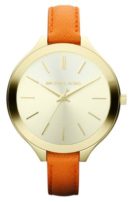 Michael Kors 'Slim Runway' Leather Strap Watch - $160 - Nordstrom