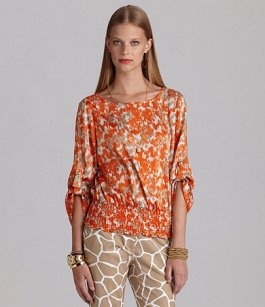 Michael Kors Smock-Hem Peasant Top - $89.50 - Dillards
