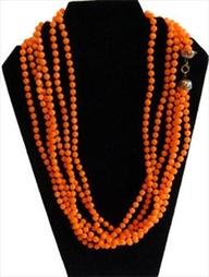 Orange Multi-Strand Necklace
