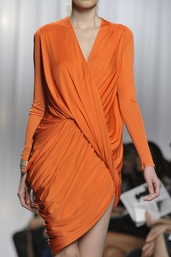 Orange Wrap Dress