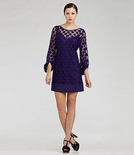 Polka Dot - Laundry by Shelli Segal Polka-Dot Lace Shift Dress - Dillards - $68.25