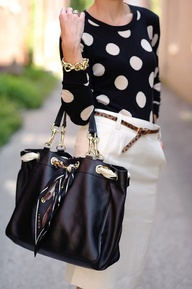 Polka Dots with Winter White