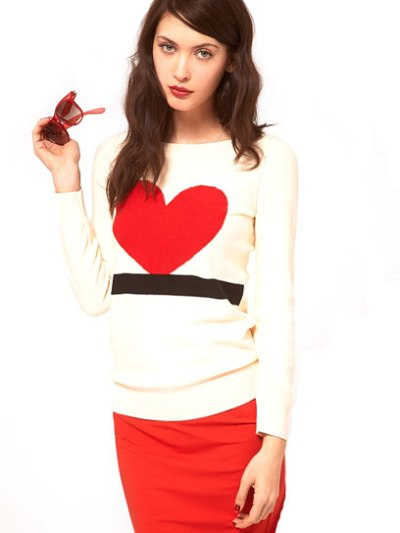 Sonia by Sonia Rykiel Love Heart Knit Sweater - $322