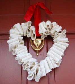 V Wreath Burlap