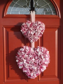 V Wreath Hearts