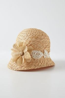 Anthropologie - Elsie Straw Cloche - $68