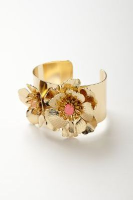Anthropologie - Unfurling Flower Cuff - $48