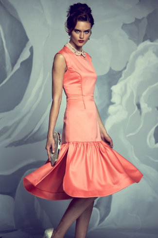 BHDLN - Coral Flounce Dress - $1200