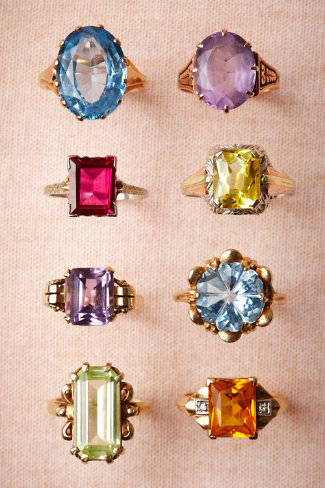 BHDLN Vintage Cocktail Rings - $580 - $680