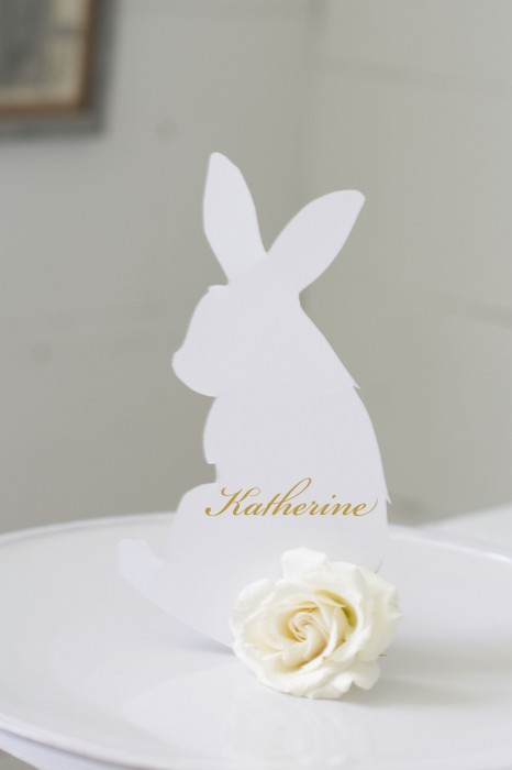 Bunny Name Card