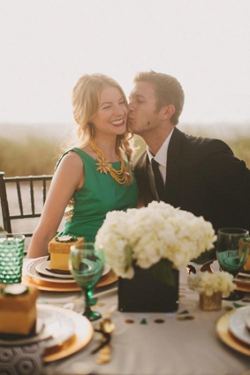 Emerald Green Couple