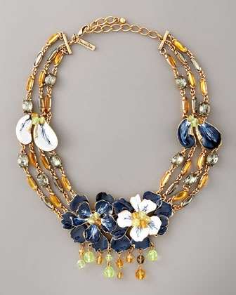 Oscar de la Renta Floral Necklace