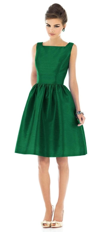 Retro Emerald Dress
