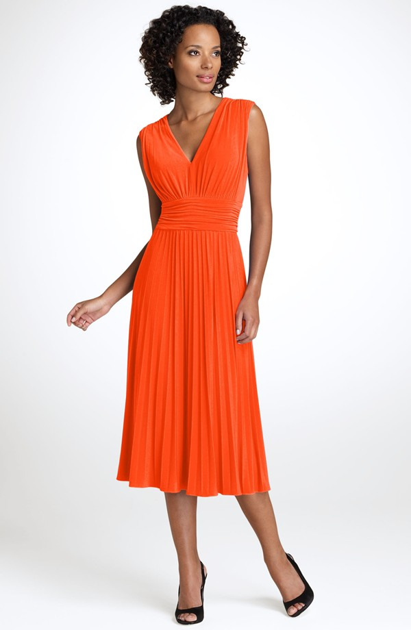 Suzi Chin for Maggy Boutique - Ruched Jersey Dress