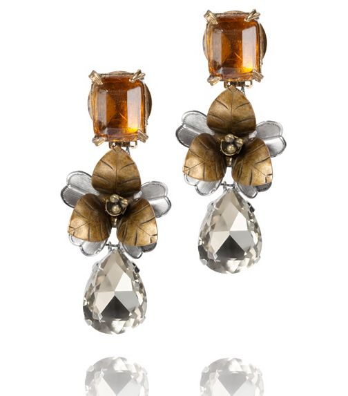 Tory Burch Emerald Stone Tear Drop Earring - $350