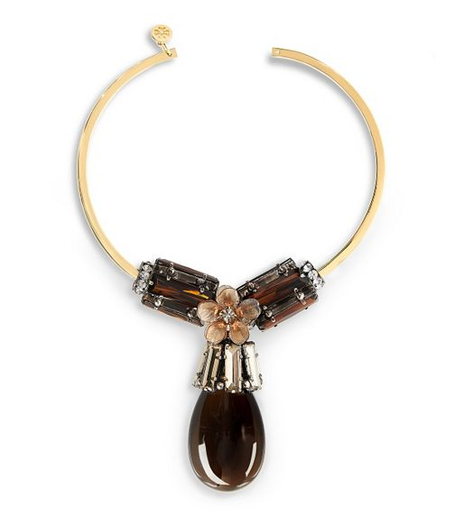 Tory Burch Tear Drop Collar Necklace - $850