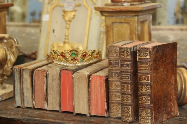 Antique Books and Crown