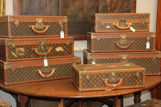 Antique LV Luggage