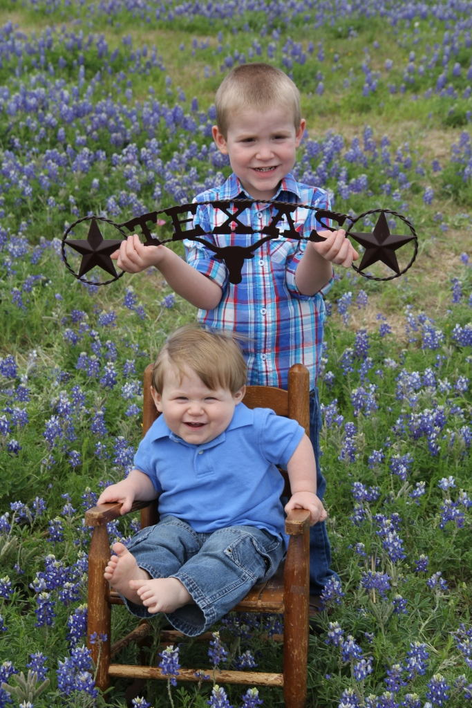 Little Boys in Bluebonnets