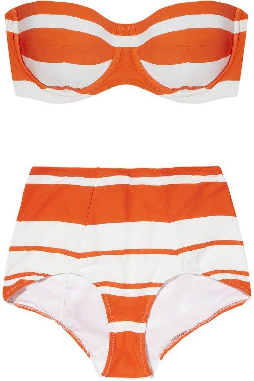 Dolce & Gabbana Striped bandeau bikini - $660