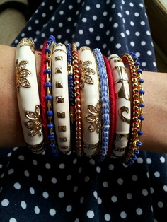 Red White and Blue Bangles