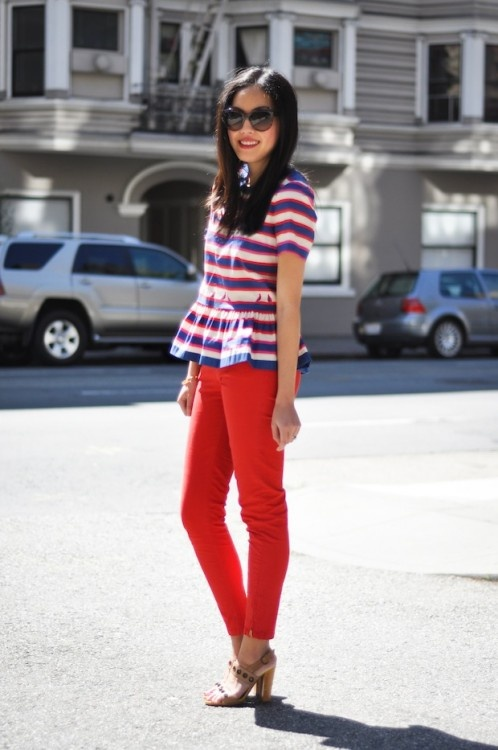 stripes + solid