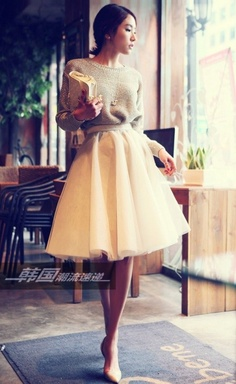 Sweater and Tulle