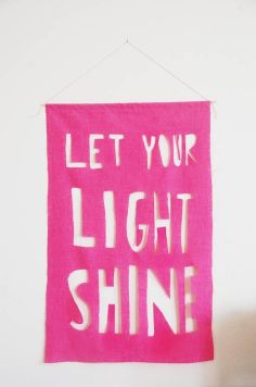 Let Your Light Shine - Pink